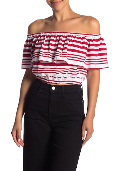 Imbracaminte Femei Abound Off-the-Shoulder Ruffle Tee RED CTRE AWNG ST