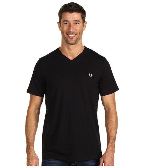 Imbracaminte Barbati Fred Perry Plain V-Neck T-Shirt Black