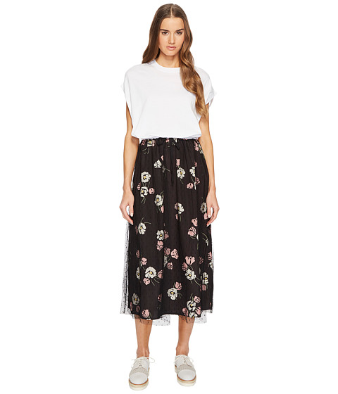 Imbracaminte Femei Red Valentino Maxi T-Shirt Dress with Printed Skirt White