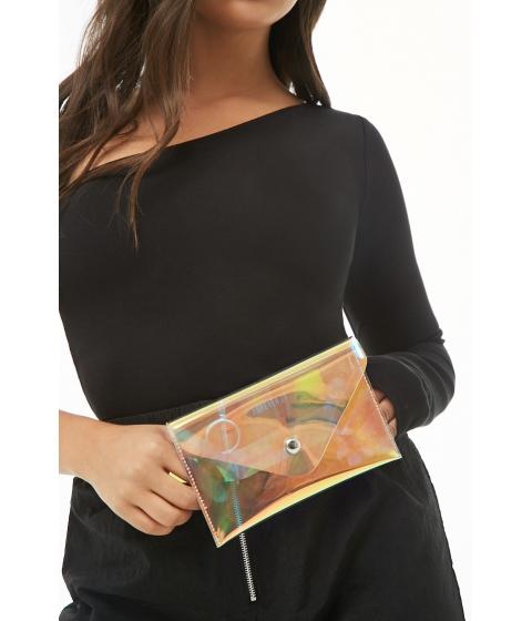 Genti Femei Forever21 Iridescent Envelope Belt Bag CLEAR