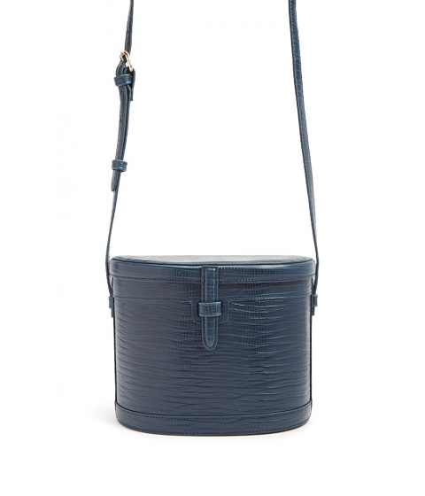 Genti Femei Forever21 Faux Leather Cylinder Crossbody NAVY