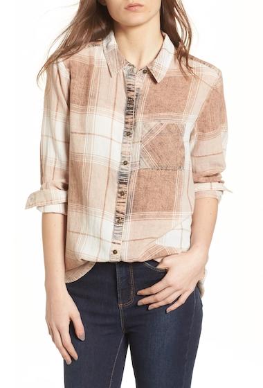 Imbracaminte Femei BP Plaid Button Up Shirt TAN N FRDA PLD