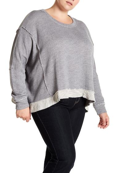 Imbracaminte Femei Melrose and Market Boxy Crew Sweatshirt Plus Size GREY SHADE COMBO