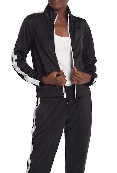 Imbracaminte Femei Marc New York Two-Tone Track Jacket BLK WHT