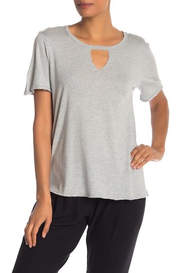 Imbracaminte Femei Michael Stars Cutout Crew Neck T-Shirt HEATHER GREY