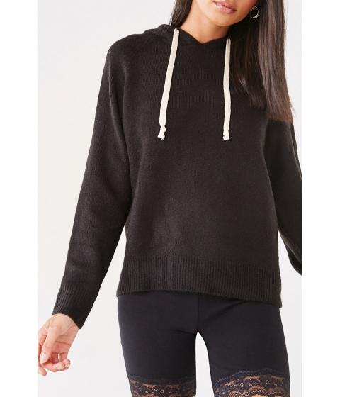 Imbracaminte Femei Forever21 Raglan Knit Hoodie BLACK