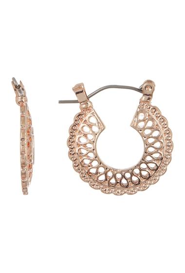 Bijuterii Femei Melrose and Market Filigree Disc 23mm Hoop Earrings ROSE GOLD