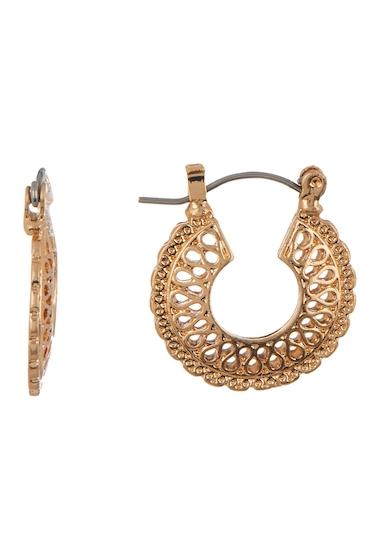 Bijuterii Femei Melrose and Market Filigree Disc 23mm Hoop Earrings GOLD