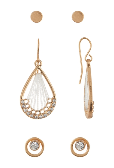 Bijuterii Femei Melrose and Market Set of 3 Dreamcatcher Stud Earrings CLEAR- SILVER- GOLD