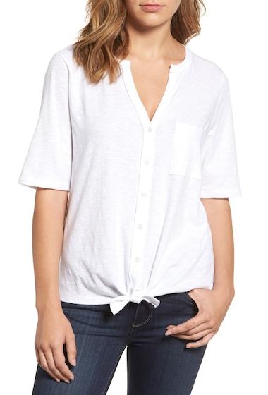 Imbracaminte Femei Caslon Tie Front T-Shirt WHITE