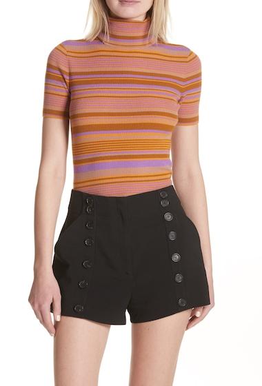 Imbracaminte Femei ALC Doninico Stripe Turtleneck Stretch Wool Sweater AMBERMERI
