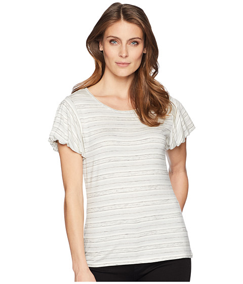 Imbracaminte Femei Vince Camuto Bubble Sleeve Melange Stripe Top Antique White