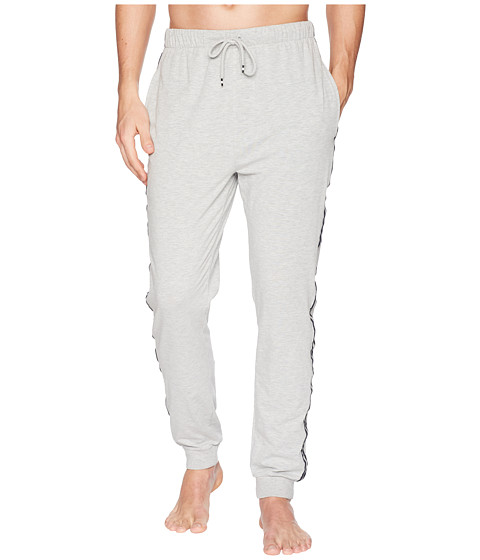 Imbracaminte Barbati Kenneth Cole Reaction Jogger Pants with Side Tape Light Grey Heather