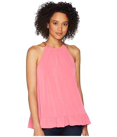 Imbracaminte Femei Michael Kors Solid Chain Halter Top Rose Pink