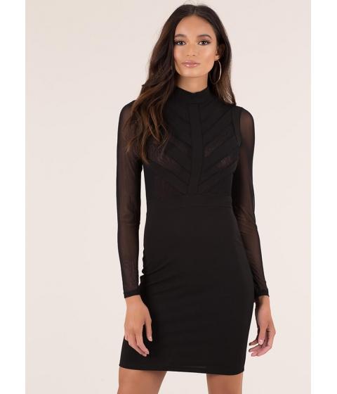 Imbracaminte Femei CheapChic Sheer Brilliance Striped Mesh Dress Black