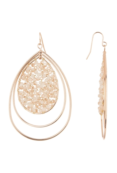 Bijuterii Femei Panacea Beaded Teardrop Earrings PEACH