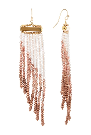 Bijuterii Femei Panacea Copper Crystal Fringe Earrings COPPER