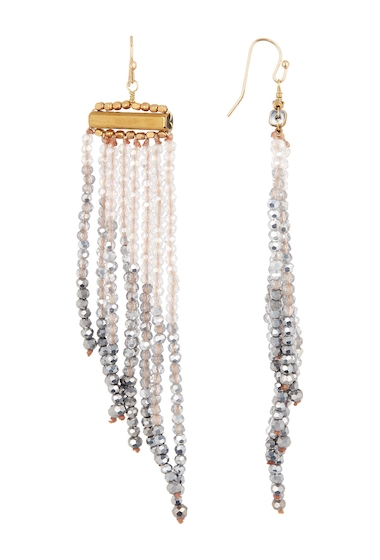 Bijuterii Femei Panacea Two-Tone Crystal Fringe Earrings SILVER