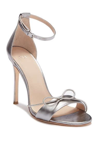 Incaltaminte Femei Pour La Victoire Elanna Leather Bow Sandal NICKEL