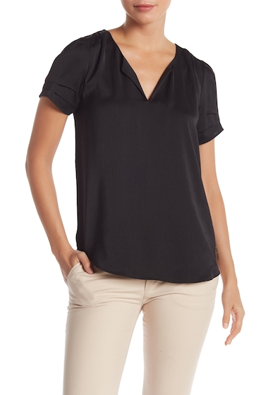 Imbracaminte Femei DR2 by Daniel Rainn Short Sleeve Sateen Top BLACK