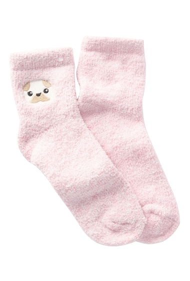 Accesorii Femei Free Press Embroidered Cozy Ankle Socks PINK CAKE PUG