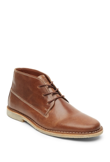 Incaltaminte Barbati Kenneth Cole Reaction Topstitched Leather Chukka Boot TAN
