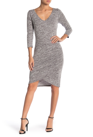 Imbracaminte Femei Free Press V-Neck Ruched Dress GREY CLOUDY HEATHER