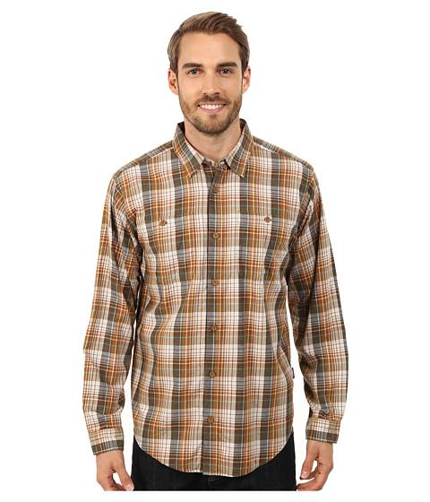 Imbracaminte Barbati Patagonia LS Pima Cotton Shirt Saddler Bear Brown