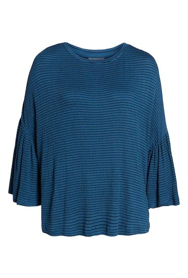 Imbracaminte Femei Caslon Stripe Bell Sleeve Tee Regular Petite BLUE DARK- BLACK BLOOM STP