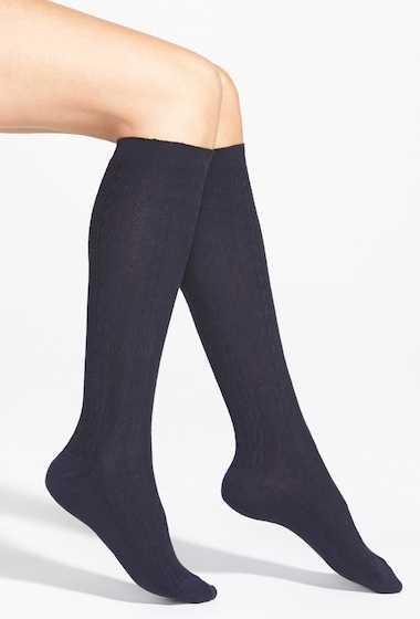 Accesorii Femei HUE Cable Knee Socks 3 for 21 NAVY