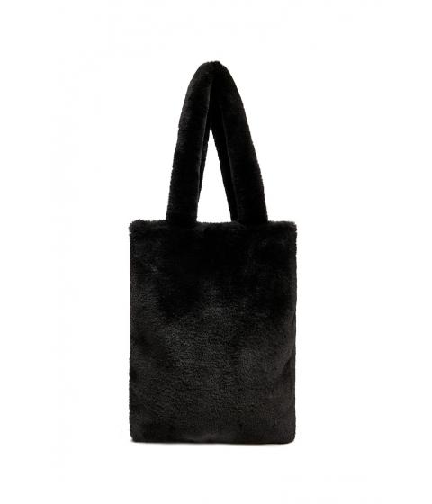 Genti Femei Forever21 Faux Fur Tote BLACK