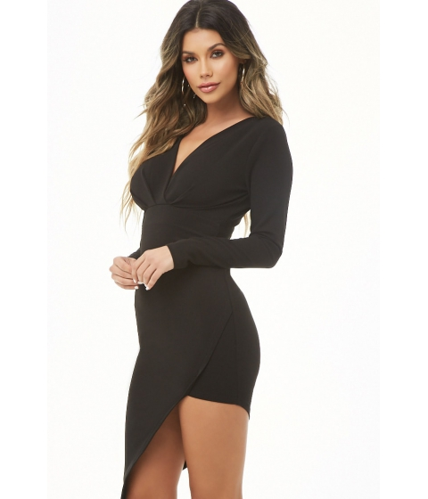 Imbracaminte Femei Forever21 Pleated High-Low Dress BLACK