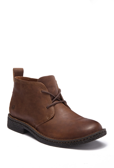 Incaltaminte Barbati Born Bismark Leather Boot DARK BROWN