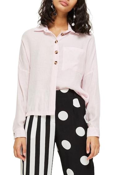 Imbracaminte Femei TOPSHOP Woven Shirt LIGHT PINK