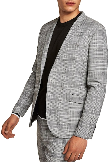 Imbracaminte Barbati TOPMAN Check Blazer BLACK MULTI