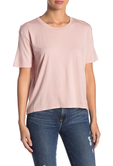 Imbracaminte Femei Abound Boyfriend Baby Short Sleeve Tee PINK ADOBE