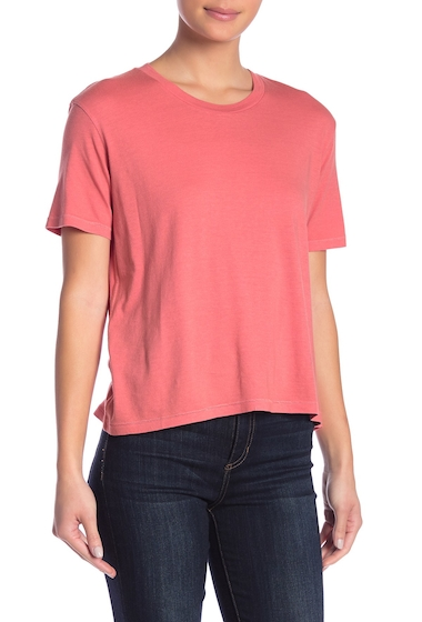 Imbracaminte Femei Abound Boyfriend Baby Short Sleeve Tee CORAL FADED