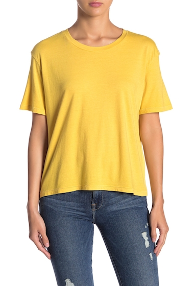 Imbracaminte Femei Abound Boyfriend Baby Short Sleeve Tee YELLOW BAMBOO