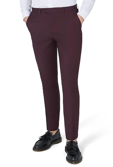 Imbracaminte Barbati TOPMAN Skinny Fit Plum Suit Trousers PLUM