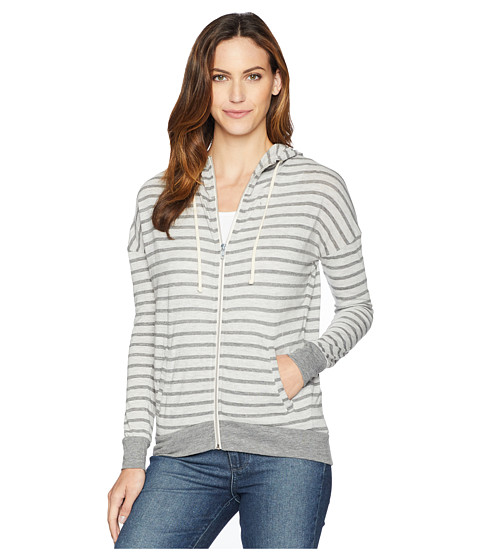 Imbracaminte Femei Alternative Apparel Cool Down Zip Hoodie Eco Grey Riviera Stripe