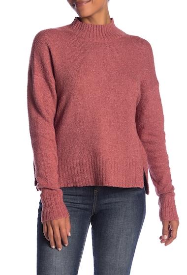 Imbracaminte Femei Melrose and Market Crop Mock Neck Boucle Pullover Regular Petite RED JELLY