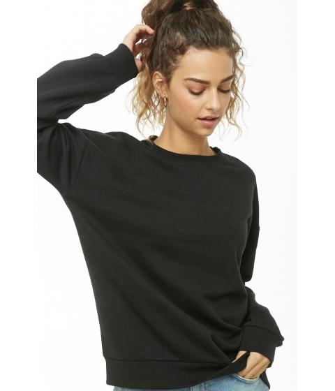 Imbracaminte Femei Forever21 Oversize Fleece Sweatshirt BLACK