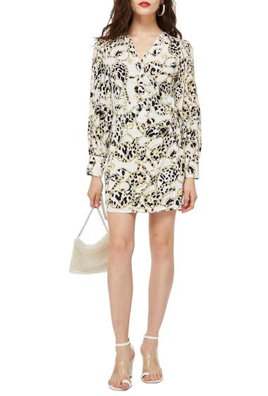 Imbracaminte Femei TOPSHOP Chain Print Wrap Dress WHITE MULTI