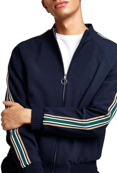 Imbracaminte Barbati TOPMAN Track Jacket DARK BLUE MULTI