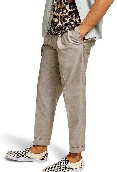 Imbracaminte Barbati TOPMAN Topshop Tapered Fit Trousers STONE