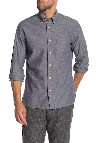 Imbracaminte Barbati Brooks Brothers Chambray Front Button Regular Fit Shirt BLUE