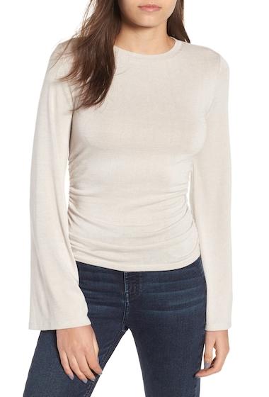 Imbracaminte Femei Leith Flare Sleeve Cinch Top GREY PEBBLE