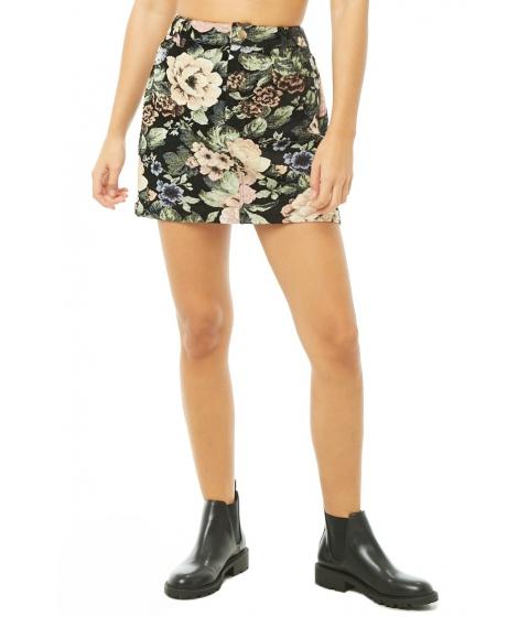 Imbracaminte Femei Forever21 Floral Jacquard Mini Skirt BLACKMULTI