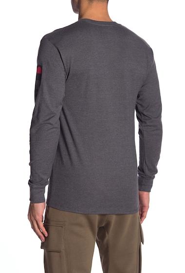 Imbracaminte Barbati Champion Logo Print Long Sleeve Tee GRANITE HE
