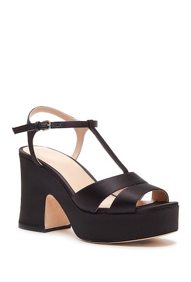 Incaltaminte Femei Pour La Victoire Nolla Satin Platform Sandal BLACK